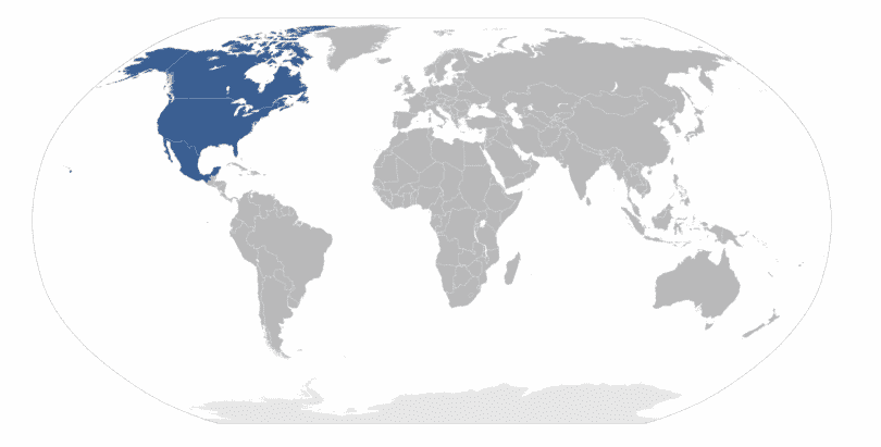 north america countries and map