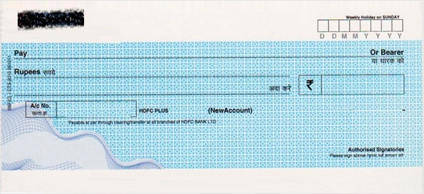 How to write a cheque in India?