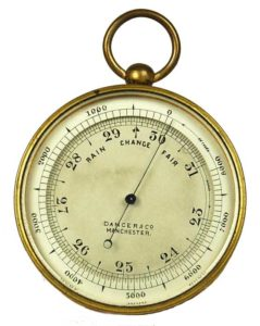 Barometer is used to measure atmospheric pressure